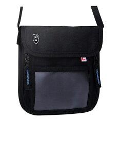 LiberFlyer パスフィットミニ(PASSFIT-mini)スキミング防止 首掛け パスポート ケース 首下げ パスポート入れ パスポートカバー パスポートケース スキミング 貴重品入れ 貴重品管理 トラベルグッズ リバーフライヤー(黒×青ファスナー)