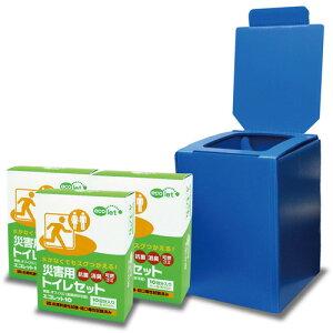 【送料無料】エコワン エコレットプラダントイレセット エコレット10 3箱入 袋付 組み立て式簡易トイレ