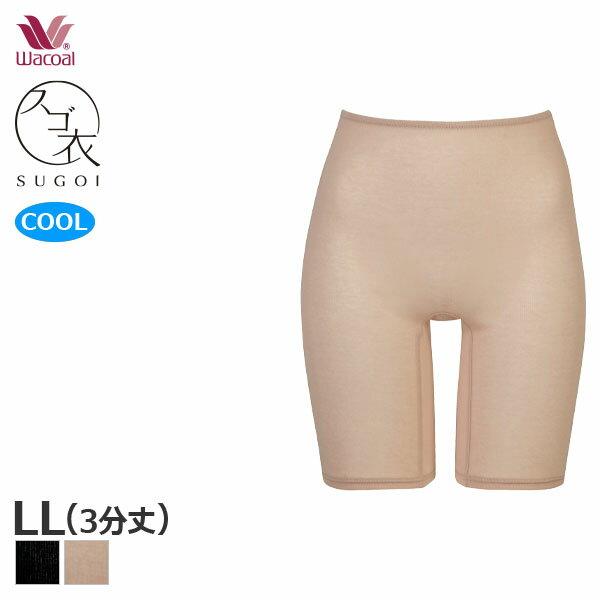 【A】27%OFF ワコール スゴ衣 快適プラス 薄い、軽い、涼しい 3分丈 インナーボトム(LLサイズ)HLD290 [m_a]