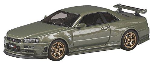 【中古】ホビージャパン MARK43 1/43 ニスモ R34 GT-R S-チューン S1 パッケージ ミレニアムジェイド 完成品