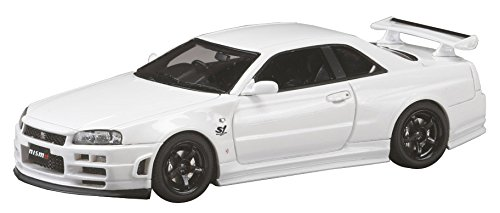 【中古】ホビージャパン MARK43 1/43 ニスモ R34 GT-R S-チューン S1 パッケージ ホワイト 完成品