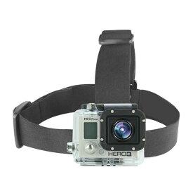 頭部にカメラを装着! アクションカメラ用 自撮り ヘッドストラップ ヘッドマウント GoPro HERO SJCAM SJ4000 SJ5000 M10 M20 SJ6 SJ7 対応 ◇FAM-GHS-1【定形外郵便】