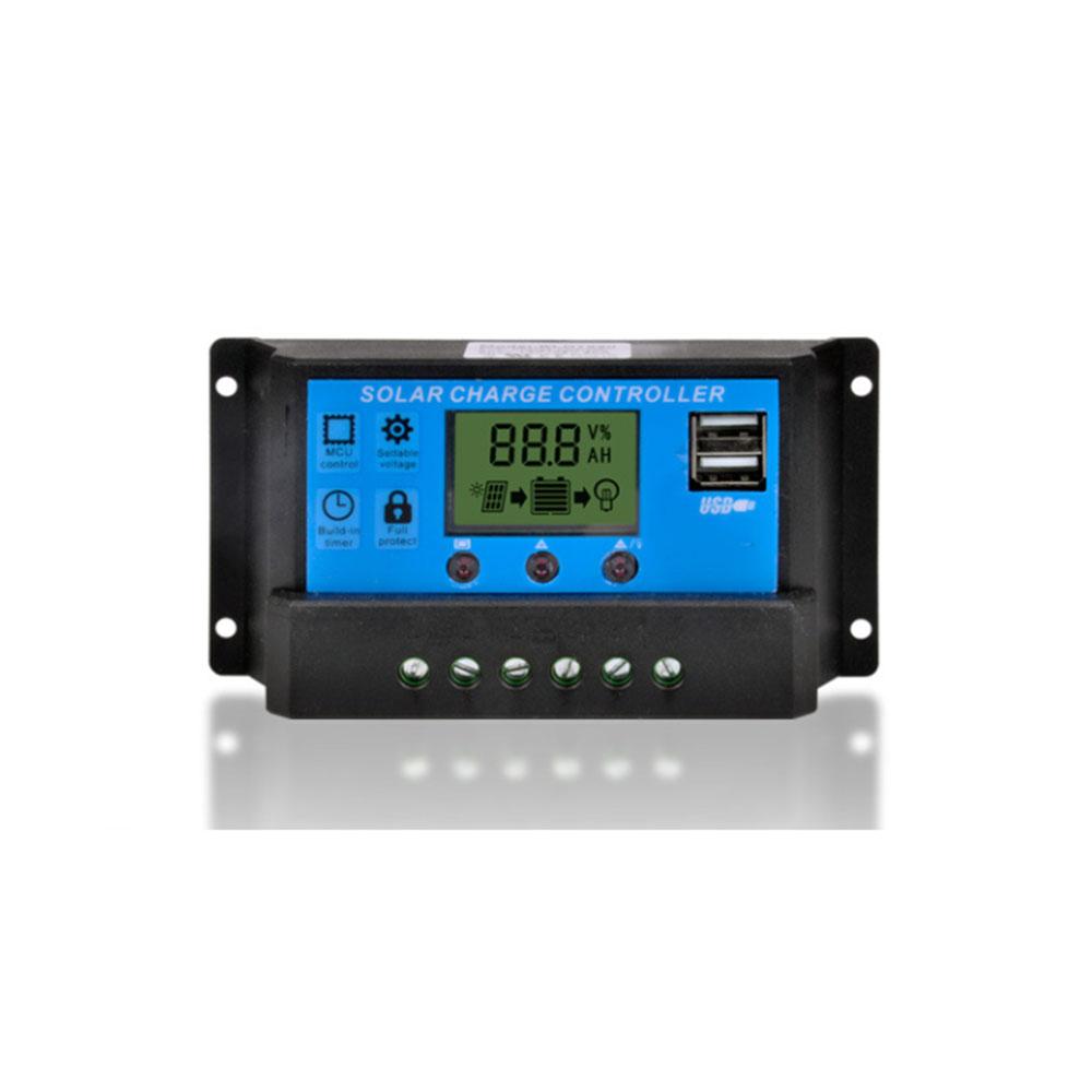 USB ソーラー充電コントローラー 20A 12V/24V デュアル USB出力 ソーラーレギュレータ ◇FAM-KLD1220【定形外郵便】
