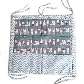 c8422e13cc69c ベビーベッド ポケット収納 おむつストッカー おむつバッグ ウォールポケット 多機能 ベッドサイド 赤ちゃん 新生児