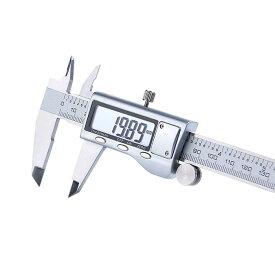 デジタルノギス 150mm 4CR13ステンレス鋼 高級感 内径 外径 深さ 測定工具 高精度 最小表示0.01mm 0-6inch表示対応 シルバー ◇FAM-JS20-150