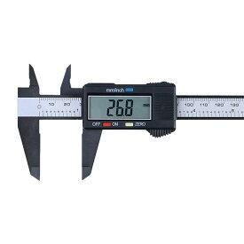 デジタルノギス 150mm 軽量 50g 内径 外径 深さ 段差測定 測定工具 高精度 最小表示0.1mm 0-6inch表示対応 強化プラスチック ABS ◇FAM-SL01-11【メール便】