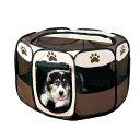 ペットテント 小型犬用 八角形の折りたたみ式 犬 ケージ 簡単 数秒設置 ペットフェンス ペットハウス 室内犬 野外用 …