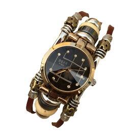 アンティーク調 腕時計 レトロ調 ブレスレットタイプ レザーベルト レディース腕時計 メンズ腕時計 おしゃれ 1000円ポッキリ◇FAM-ZSSB0012【メール便】
