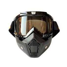 オートバイゴーグル スキーゴーグル スノーボードゴーグル モトクロスゴーグル コンパクト 汗吸水スポンジ ヘッドバンド長さ調整可能 耐久性 柔軟性 豊富な5色 ◇FAM-CG03