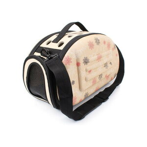 ペットキャリーケース ペットバッグ ショルダー 肩掛け 犬 猫 屋外 旅行 折りたたみ 軽量 コンパクト 通気性 可愛い 2way Lサイズ ◇FAM-ZS011606-L