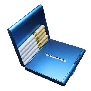 シガレットケース 20本収納 ステンレス キングサイズ ホルダー タバコ たばこ 煙草◇FAM-LF846【メール便】
