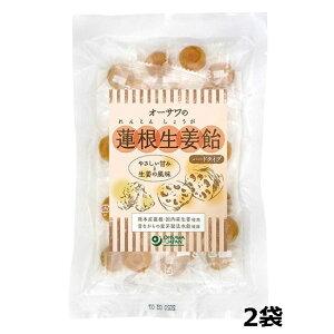 \送料無料 メール便発送/【ーサワの蓮根生姜飴(ハードタイプ) 80g×2袋】