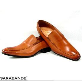 SARABANDE サラバンド ビジネスシューズ バンプ スリッポン Uチップ レースアップ 7774LBR ライトブラウン