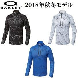 オークリー ゴルフ ウェア スカル モック シャツ【OAKLEY】SKULL SPATIAL LS MOCK【SLIM】カラー:BLACK PRINT(00G)カラー:WHITE PRINT(186)カラー:BLUE PRINT(62K)434303JP