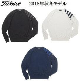 タイトリスト ウェア メンズ セーター【Titleist】ストライプクルーネックニットカラー:ブラック(BK)カラー:オフホワイト(OW)カラー:ネイビー(NV)素材:ウール50% アクリル50%TWMK1873