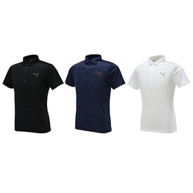 2642d82a4367b プーマ ゴルフ メンズ ウェア ポロシャツ【PUMA】ゴルフ SSポロシャツ カラー:ブラック(01