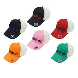 アドミラル ゴルフ キャップ 【Admiral】MESH CAP ADMB410Fカラー:ブラック(10)カラー:ネイビー(30)カラー:レッド(40)カラー:オレンジ(46)カラー:ピンク(48)カラー:グリーン(60)