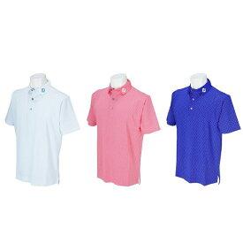 フットジョイ ゴルフ メンズ ウェア 半袖【FootJoy】サークルプリントシャツカラー:ホワイト(22581)カラー:ピンクアザレア(22582)カラー:ミッドナイトブルー(22583)FJ-S17-S51