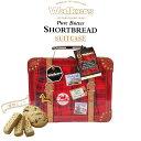 ウォーカー スーツケース缶 ショートブレッド チョコチップ クッキー ビスケット スイーツ おやつ お菓子 缶 ティータイム プレゼント ギフト お土産 誕生日 クリスマスプレゼント クリスマス イギリス ロンドン 英国 輸入 Walkers