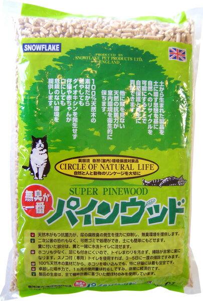 スノーフレイク・ペット・プロダクト社 パインウッド(6L)〔猫砂 トイレ砂 無臭 天然木〕  *