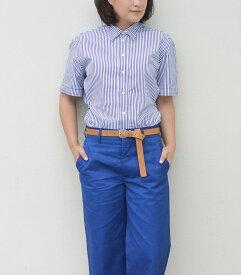 【アウトレット】Baguttaバグッタストライプ半袖シャツ
