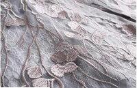 【9月1日20時新作】シルバー刺繍レースAラインパーティードレス