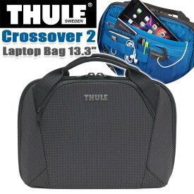 """ビジネスバッグ THULE スーリー ブリーフケース 正規品 ショルダー トート 手持ち 丈夫 13.3インチ PC収納 タブレット 頑丈 丈夫 女性 ビジネス 仕事 機能的 斜め掛け 通勤 通勤用 都会派 キャリーオン A4 Thule Crossover 2 Laptop Bag 13.3"""" C2LB-113"""