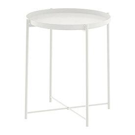 IKEA イケア GLADOM グラドム トレイテーブル ホワイト 45x53 cm (503.378.20)収納 コンビネーション 収納ボックス 収納BOX 収納棚 寝室 ベッドルーム 机 デスク おしゃれ 北欧 かわいい カフェ ソファ 収納