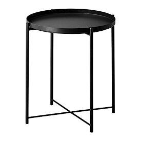 IKEA イケア GLADOM グラドム トレイテーブル ブラック 45x53 cm (004.119.97) 収納 コンビネーション 収納ボックス 収納BOX 収納棚 寝室 ベッドルーム 机 デスク おしゃれ 北欧 かわいい カフェ ソファ 収納