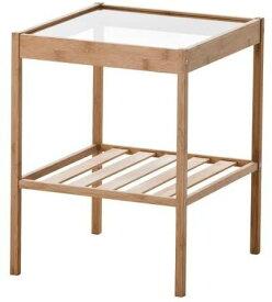 IKEA イケア NESNA ベッド サイドテーブル ネスナ 36x35 cm 20247128  寝室 ベッドルーム 机 デスク おしゃれ 北欧 かわいい ガラス コーヒーテーブル カフェ ソファ