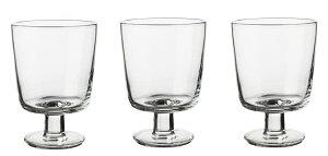 IKEA イケア 365+ ゴブレット クリアガラス30cl 3個セット (902.783.62) 強化ガラス製 食器洗い乾燥機対応 カフェ 北欧 韓国インテリア
