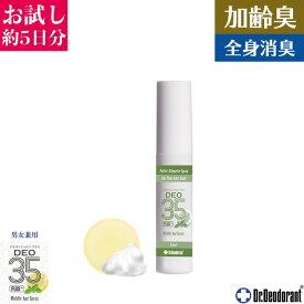 制汗剤 体臭 男性 加齢臭 対策専用スプレー 薬用ミョウバン石鹸EX & DEO35 PLUS+ トライアルセット 頭皮 臭い ドクターデオドラント