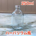 ハーバリウム瓶  大きい丸 250ml キャップ付き 卸売【ハーバリウム 手作り 材料 ガラス ボトル 卸】
