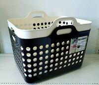 ランドリーバスケットM(メッシュ)フタ付洗濯かごやわらかいバスケット(ポピンズM)