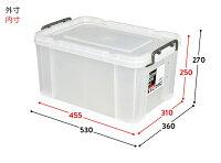 ラッキーボックス収納ケース収納ボックスコンテナボックスフタ付きボックス衣類収納工具箱洗車グッズアウトドア道具入れ防災グッズ収納ひとまとめプラスチック日本製33リットル