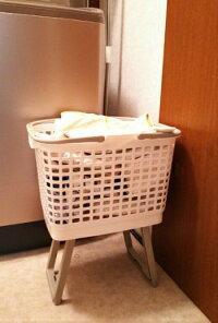 ランドリーバスケット(脚付)洗濯かご脱衣かご