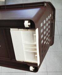積み重ねバスケット収納ボックスジョイントボックス3個セット【2色から選べます】