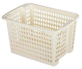 ホップアップバスケット L 深型 2個セット 積み重ねバスケット 積み重ね スタッキング バスケット 収納ボックス 収納ケース 脱衣かご 脱衣所 片付け 衣類収納 クローゼット収納 おもちゃ入れ 押入れ 日本製【2色から選べます】