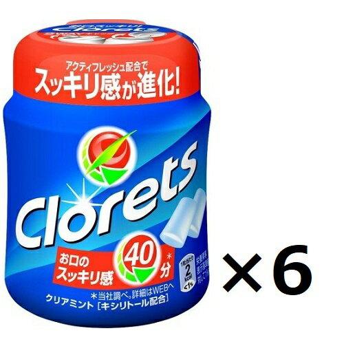 【まとめ買い】【セット買い】モンデリーズ・ジャパン クロレッツXP クリアミント ボトル 140g×6個