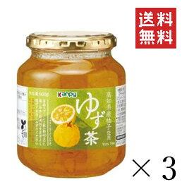 加藤産業 GREEN WOOD ゆず茶 600g×3個 まとめ買い 業務用 瓶 無添加 ジャム 料理 送料無料