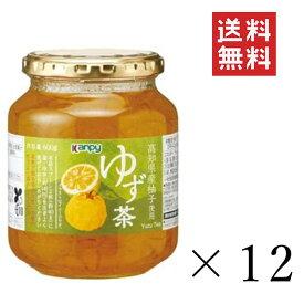 加藤産業 GREEN WOOD ゆず茶 600g×12個 まとめ買い 業務用 瓶 無添加 ジャム 料理 送料無料