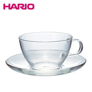 耐熱ティーカップ&ソーサー【 ガラス グラス コップ マグカップ ハリオ hario 】LF557B07b000