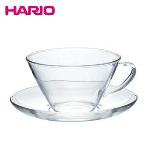 耐熱カップ&ソーサー・ワイド【 ガラス グラス コップ マグカップ ハリオ hario 】LF557B07b000