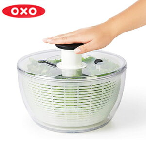 【送料無料】クリアサラダスピナー 大【スピナー サラダ 水切り ボウル ザル カゴ 収納 オクソー (OXO)】