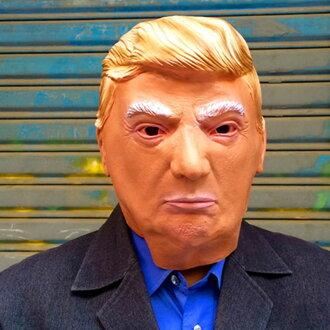 撲克牌橡膠口罩唐納德·撲克牌美國美國總統古裝戲也做,戴宴會商品東西假扮化裝萬聖節聖誕節忘年會派對活動用品促銷品萬聖節用品