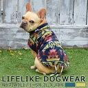 ポンチョ モコモコ 民族風 袖なし 小型犬 中型犬 LIFELIKE ネイティブハントポンチョ 1〜5号 2L 3L 秋冬 冬用 秋 冬あ…