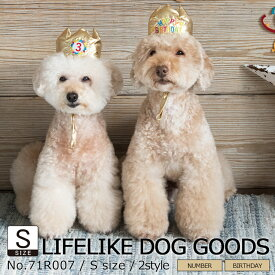 【バースデークラウン S】被り物 犬 猫 LIFELIKE 帽子 パーティーグッズ イベント インスタ映え 小型犬 中型犬 かぶりもの ダックス プードル チワワ バースデー