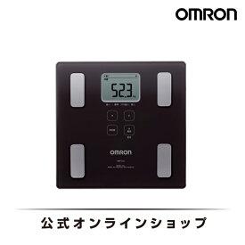 オムロン OMRON 公式 体重体組成計 HBF-214-BW カラダスキャン ブラウン 体重計 体組成計 おしゃれ シンプル 軽量 軽い 小さい 内臓脂肪 基礎代謝 体脂肪率 デジタル 送料無料