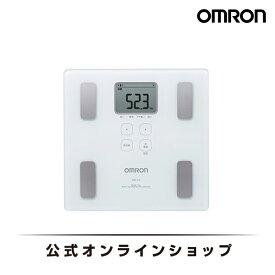 オムロン OMRON 公式 体重体組成計 HBF-214-W カラダスキャン ホワイト 体重計 体組成計 おしゃれ シンプル 軽量 軽い 小さい 内臓脂肪 基礎代謝 デジタル 送料無料