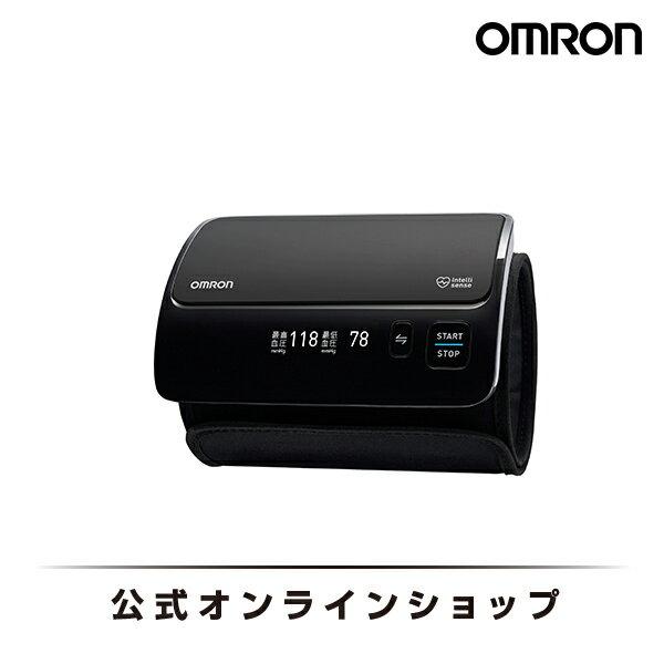 オムロン 公式 上腕式血圧計 ブラック HEM-7600T-BK チューブレス コンパクトモデル 送料無料